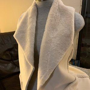 Fuzzy White Vest